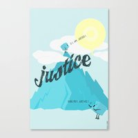justice Canvas Prints featuring Justice !.. by Oblivion Creative