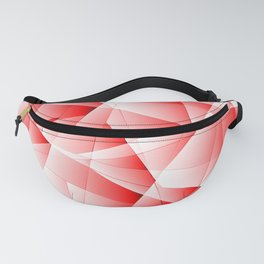 Repetitive overlapping sheets of light red paper triangles. Fanny Pack