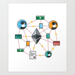 Ethereum Transactions Art Print