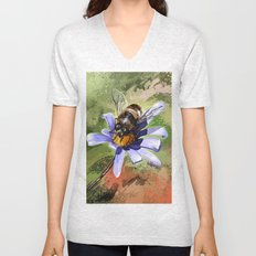 Bee on flower 18 Unisex V-Neck