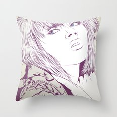 Thinking about something Throw Pillow