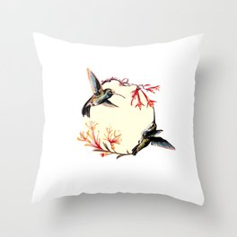 Humming Bird Throw Pillow