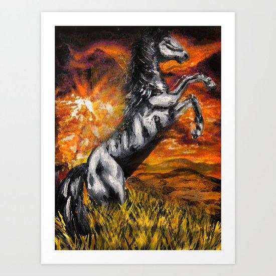 It's always sunny in philadelphia, charlie kelly horse shirt, black stallion Art Print