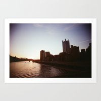 pittsburgh Art Prints featuring Pittsburgh by Benny Pinto