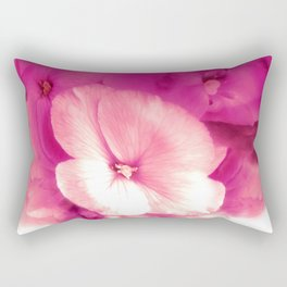Blushing Wallflower Rectangular Pillow