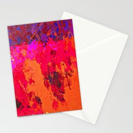 Abstract Pink & Orange Stationery Cards