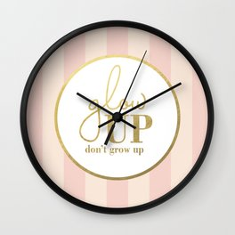 Glow up poster Wall Clock