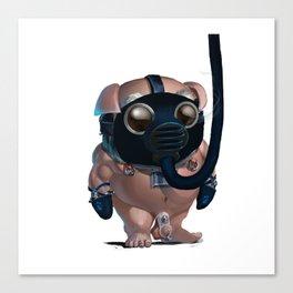 Kink Pig Slave Tumble Gasmask Naked Canvas Print