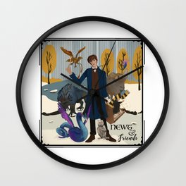 Newt & Friends Wall Clock