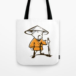 Old monk Tote Bag