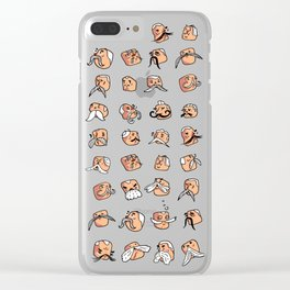 Mustachioed Guys Clear iPhone Case