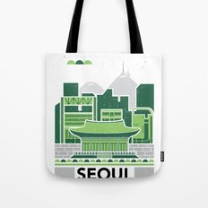 City Illustrations (Seoul, South Korea) Tote Bag