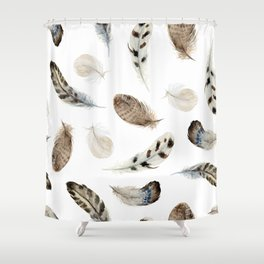 Feathered and Fancy Free Shower Curtain