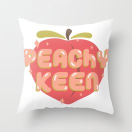 Peachy Keen Throw Pillow