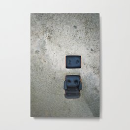 Comfy Office Chair on Concrete Metal Print