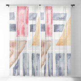 13    Abstract Geometric   191015 Sheer Curtain