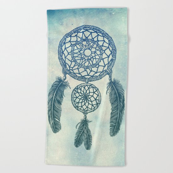 Double Dream Catcher Beach Towel