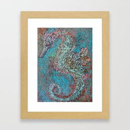 Seahorse in Glass Cradle Framed Art Print