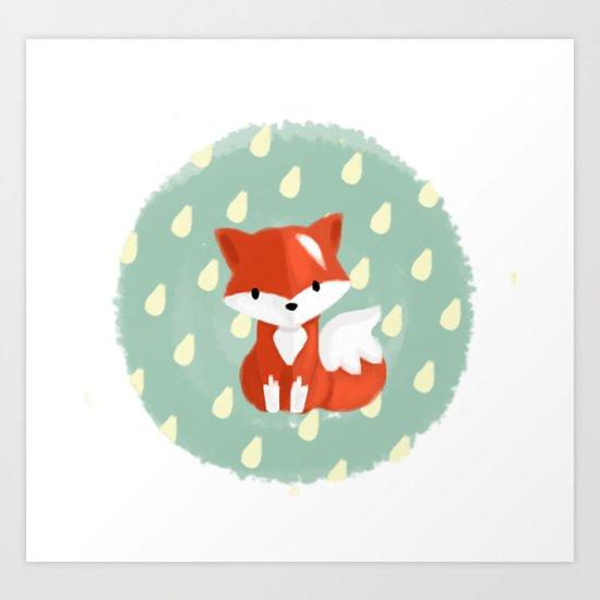 I'm a fox Art Print