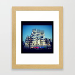 Interactive Corp Building in NYC Framed Art Print