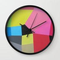 "rio Wall Clocks featuring ""Rio"" by Ieva Baklane"