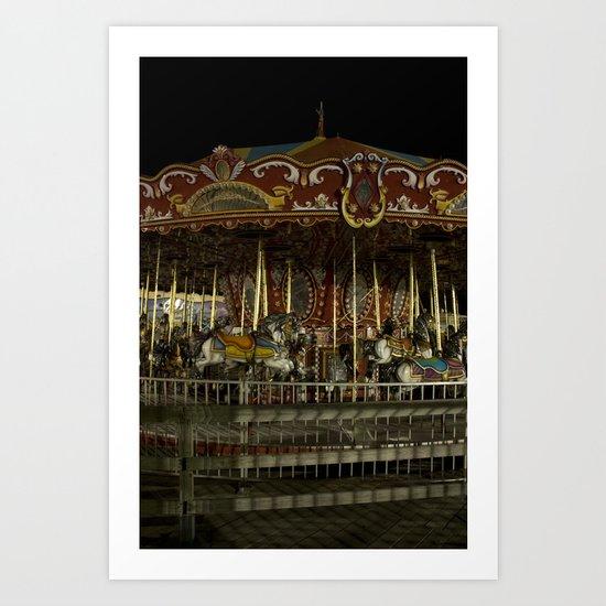 The Rides, The Carousel Art Print