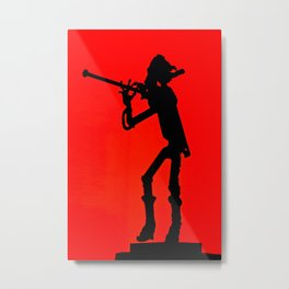 The flute player Metal Print