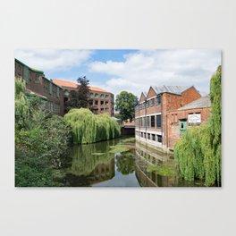 River Foss York Canvas Print