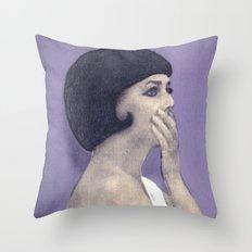 the bride wore black Throw Pillow