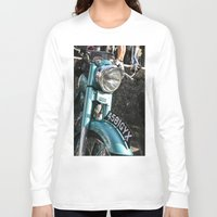 moto Long Sleeve T-shirts featuring Vintage moto by Johanna Arias