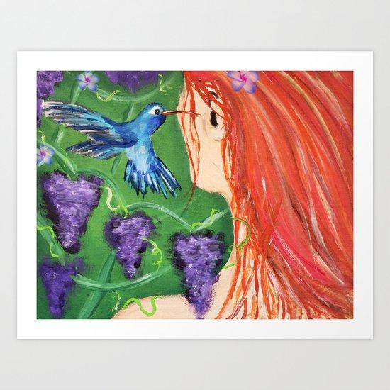 A little bird told me... Art Print