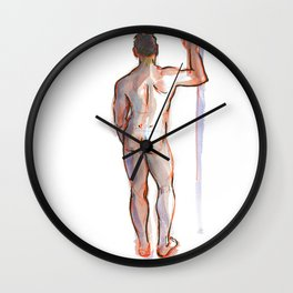 PATRICK, Nude Male by Frank-Joseph Wall Clock