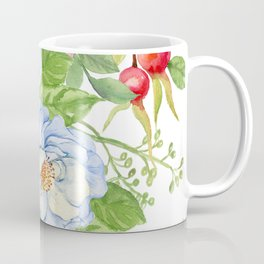 Exquisite Floral Pattern in Pastel Blues and Pinks Coffee Mug