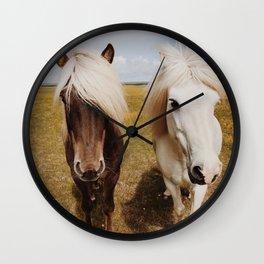 Icelandic Horse #3 Wall Clock