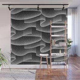 Aurora Borealis_Black and White Wall Mural