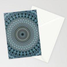 Blue and grey mandala Stationery Cards