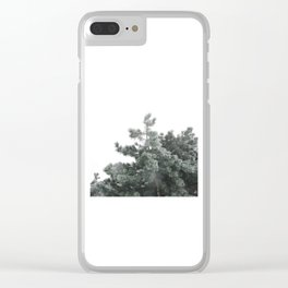 Frozen pine Clear iPhone Case