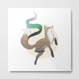 Aurora Fox Metal Print