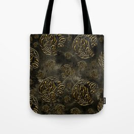 Mosaic of golden elephants Tote Bag