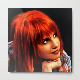 Hayley Williams - Celebrity Paint Art Metal Print