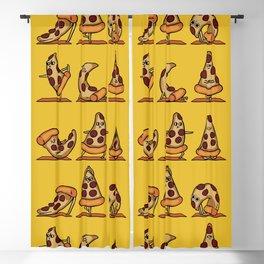 Pizza Yoga Blackout Curtain