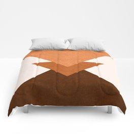 Geometric Blocks in Terracotta Comforters