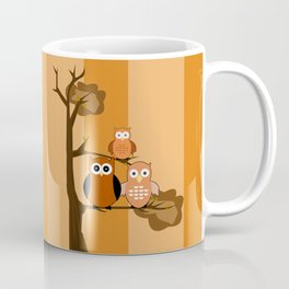 Orange Owls Coffee Mug