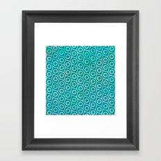 turquoise Pattern Framed Art Print