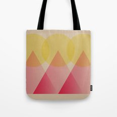 Mountains and Suns Tote Bag