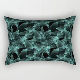 Abstract pattern.the effect of broken glass.Black background. Rectangular Pillow
