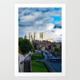 York City Walls and Minster Art Print