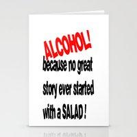 alcohol Stationery Cards featuring alcohol by Sava Miskovsky
