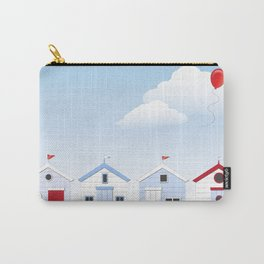 Beach Huts Carry-All Pouch