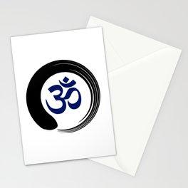 Namaste Zen Circle Meditation Prayer Ohm Aum Om Oum Peace Tai Chi Taiji Stationery Cards